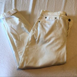 Talbots simply flattering 5 pocket jeans white